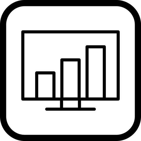 Stats Icon Design vettore