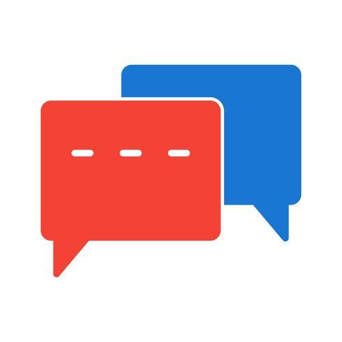 Disegno dell'icona di conversazione vettore