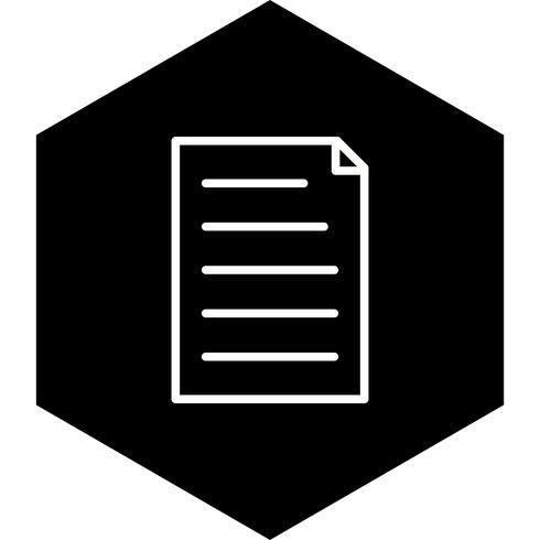 disegno dell'icona del documento vettore