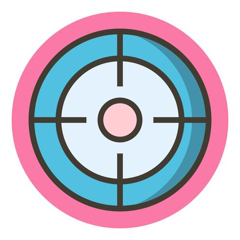 design dell'icona di destinazione vettore