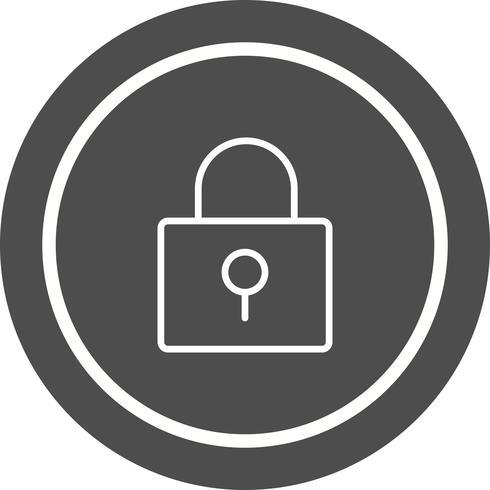 disegno dell'icona di blocco vettore