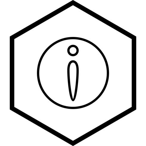 Disegno dell'icona di informazioni vettore
