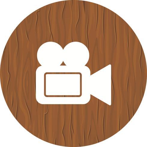 Disegno dell'icona della videocamera vettore