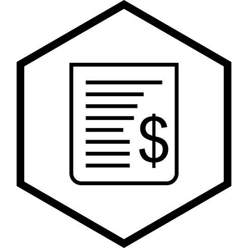 Disegno dell'icona della ricevuta vettore