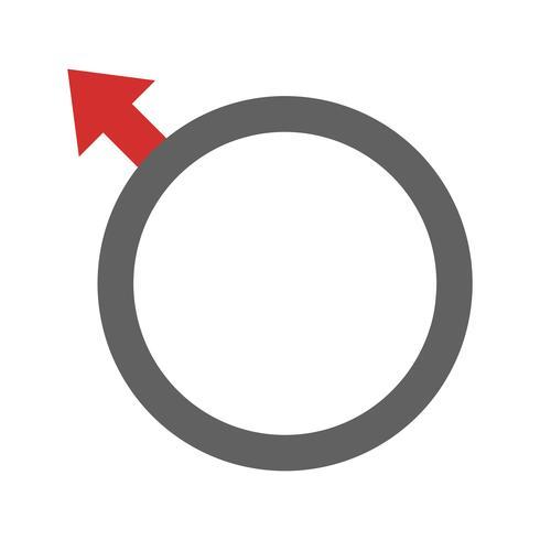 Disegno dell'icona maschile vettore