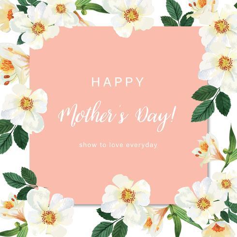 L'acquerello floreale delle carte di nozze dell'acquerello del fiore del fiore della magnolia, invito salva la data, nozze celebra il matrimonio, illustrazione di progettazione della carta di ringraziamento. vettore