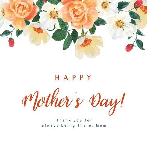 La peonia e la magnolia che fioriscono l'acquerello floreale delle carte di nozze dell'acquerello del fiore, invito salva la data, nozze celebrano il matrimonio, illustrazione di progettazione della carta di ringraziamento. vettore