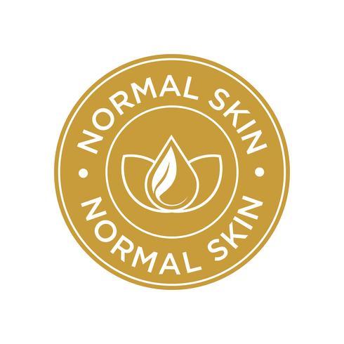 Icona della pelle normale. vettore