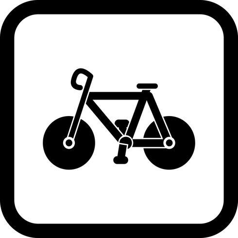 Disegno dell'icona della bicicletta vettore