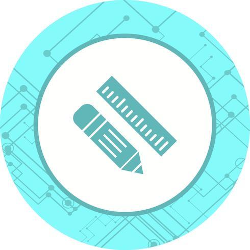 Disegno dell'icona matita e righello vettore