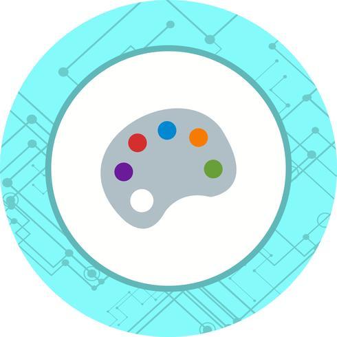 Color Icon Pallete Design vettore