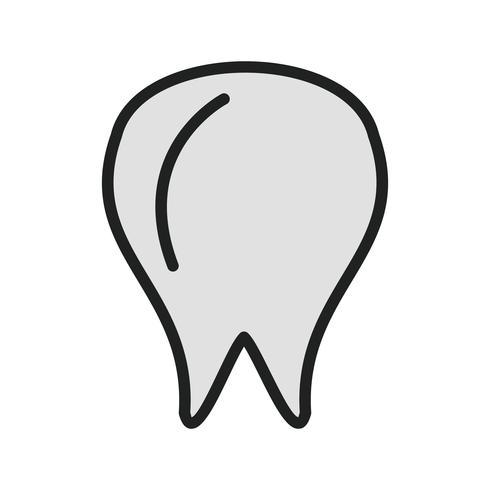 Disegno dell'icona del dente vettore