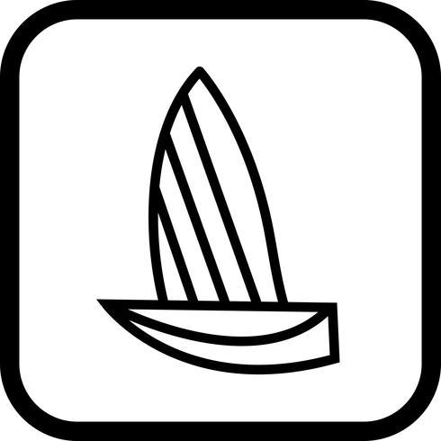 disegno dell'icona di yacht vettore