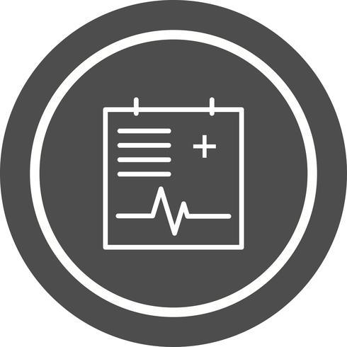 Disegno dell'icona del grafico medico vettore