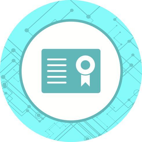 Certificato Icon Design vettore