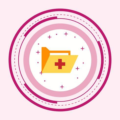 Disegno dell'icona cartella medica vettore