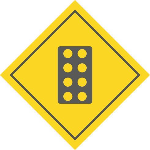Disegno dell'icona di compresse vettore