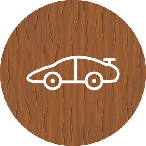 Disegno dell'icona dell'automobile sportiva vettore