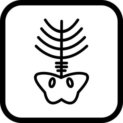 disegno dell'icona dei raggi x vettore