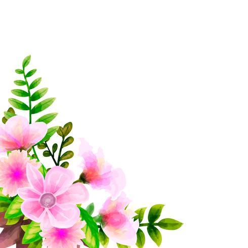 Acquerello del mazzo, insieme floreale di vettore del fiore. Collezione floreale colorato con foglie e fiori, disegno acquerello.