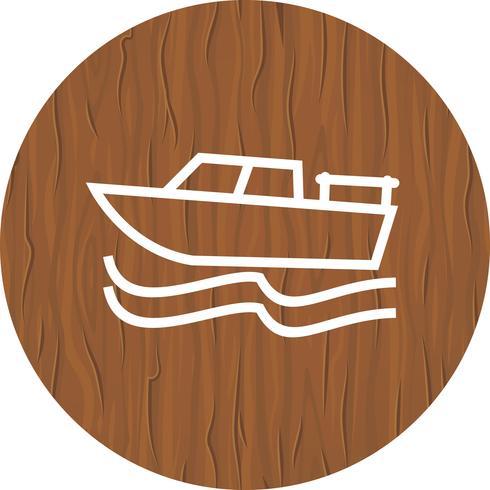 Disegno dell'icona della barca vettore