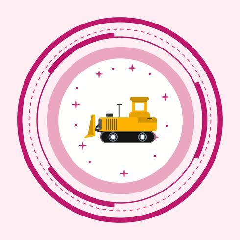 disegno dell'icona di bulldozer vettore