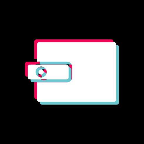 Portafoglio Icon Design vettore
