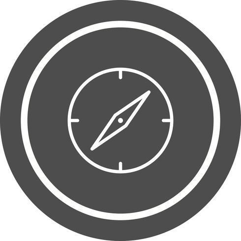 Bussola Icon Design vettore