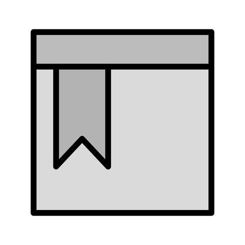 Disegno dell'icona della pagina segnalibro vettore