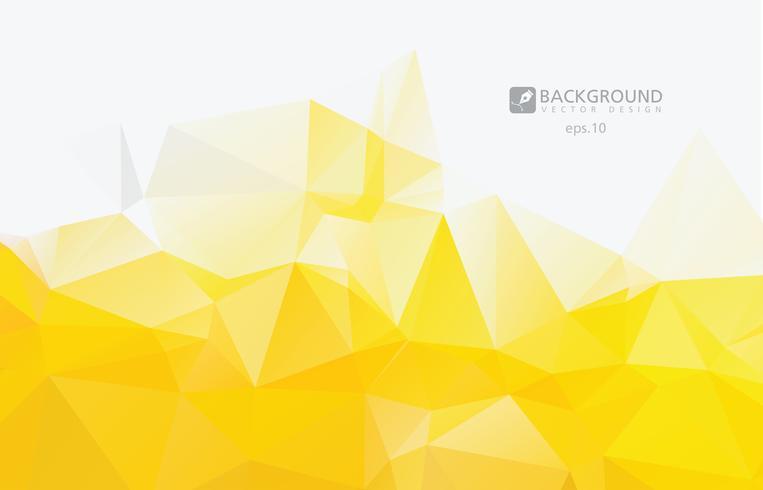 Fondo poli basso triangolare sgualcito geometrico astratto giallo di vettore dell'illustrazione di vettore di stile