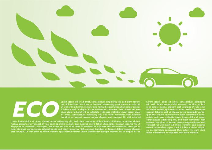 eco car concept.vector vettore