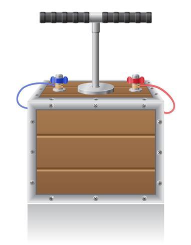 detonante illustrazione vettoriale di fusibile