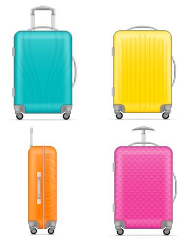 illustrazione vettoriale di borsa da viaggio in plastica
