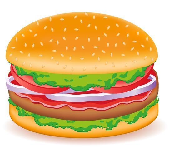 illustrazione vettoriale di hamburger