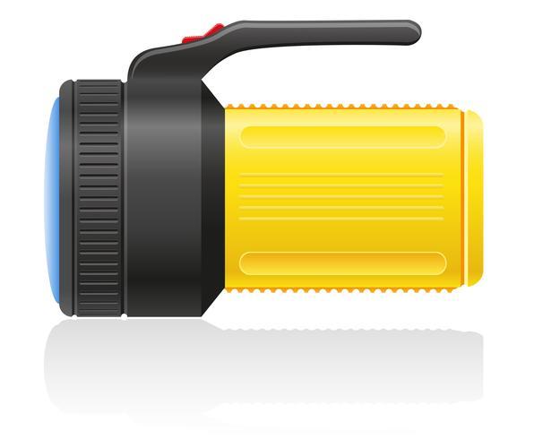illustrazione vettoriale di torcia elettrica