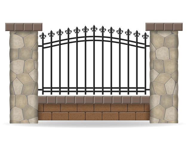 illustrazione vettoriale di recinzione in pietra