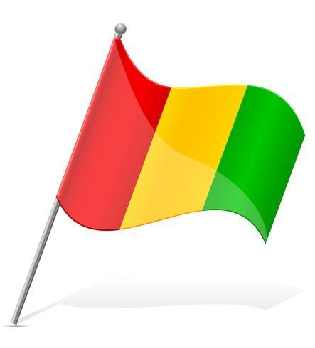 bandiera della Guinea illustrazione vettoriale