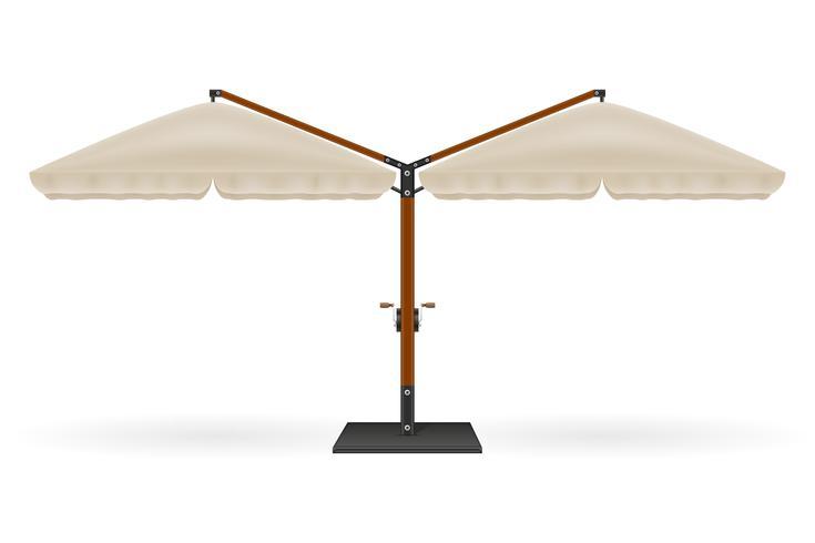 grande ombrellone per bar e caffè sulla terrazza o l'illustrazione vettoriale spiaggia