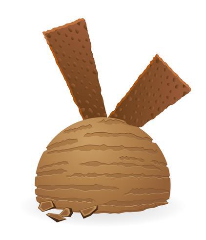 illustrazione vettoriale palla di gelato