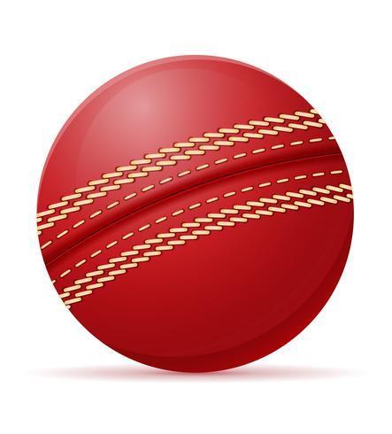 illustrazione vettoriale palla da cricket