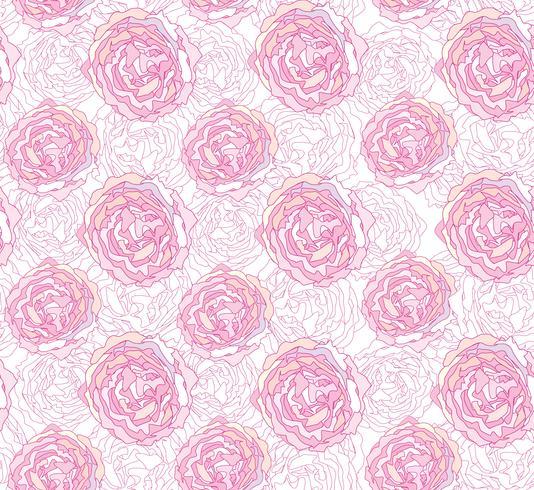 Motivo floreale senza soluzione di continuità. Sfondo di fiori Struttura del giardino fiorito vettore