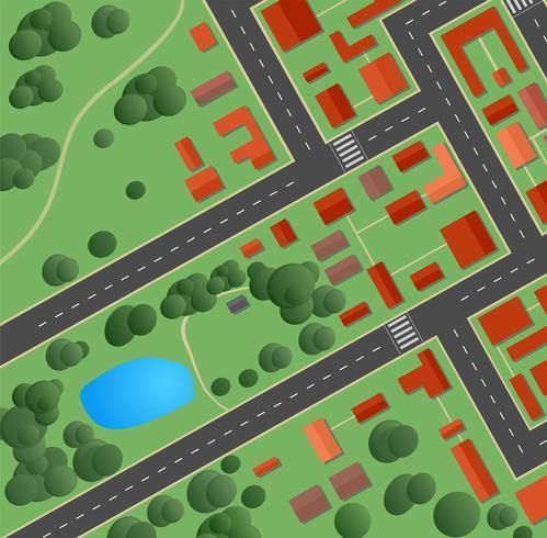 strade e case vettore