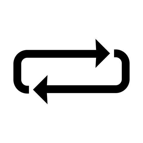 icona del glifo del ciclo nero vettore