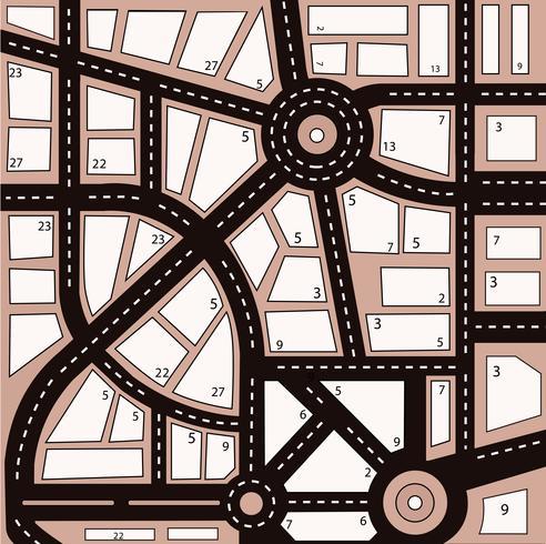 Zona urbana vettore