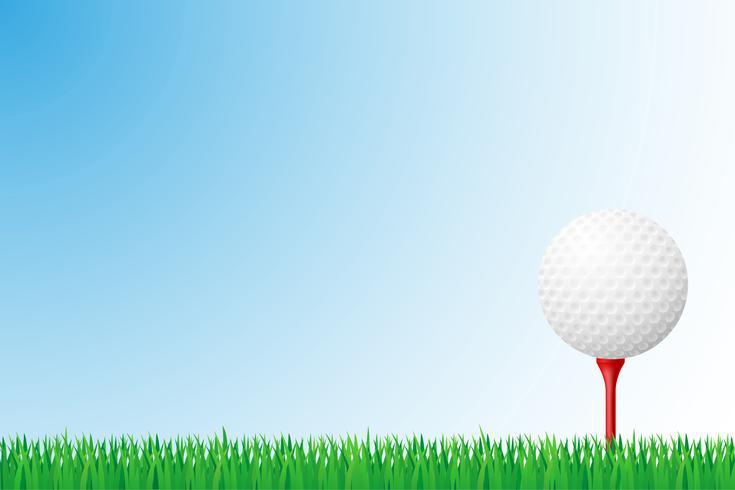 illustrazione di vettore del campo di erba di golf