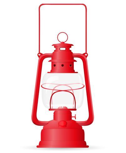 illustrazione vettoriale lampada a cherosene