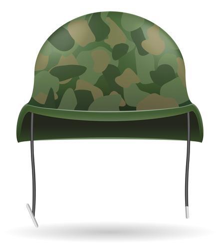 illustrazione di vettore di caschi militari
