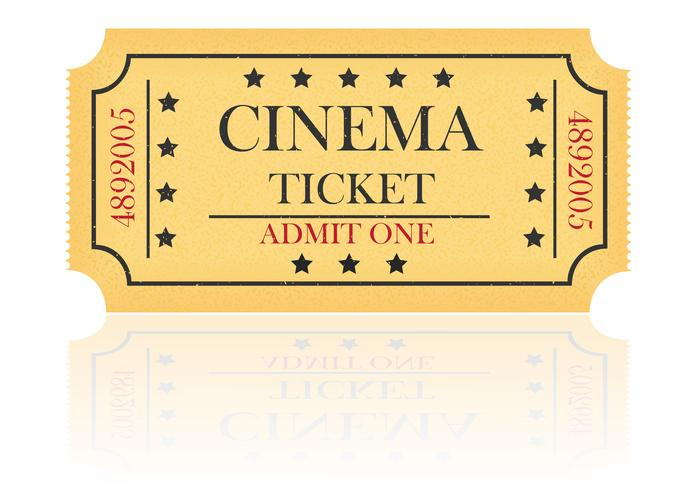 illustrazione di vettore del biglietto del cinema
