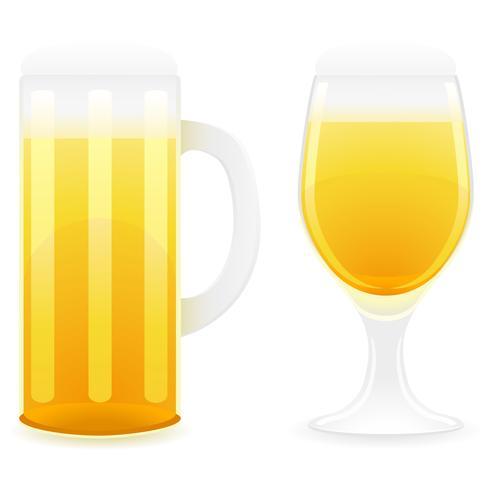 illustrazione vettoriale di vetro di birra