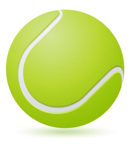 illustrazione vettoriale di palla da tennis